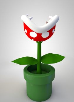 Piranha Plant from Super Mario by The3DLeopard