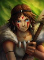 Princess Mononoke by MCAshe