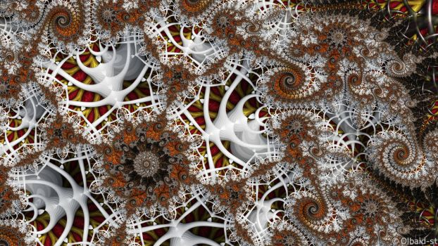 Mandelbrot 152 - Melodious white - by Olbaid-ST