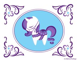 My Little Dala Horse - Rarity by MalimarTheMage
