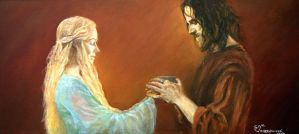 Eowyn and Aragorn by LizDouceFolie