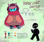 Hyper light Drifter-themed custom Mocchi by Miikage