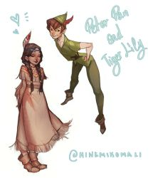 Peter Pan and Tiger Lily by MinemikoMali
