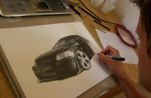 Drawing a Honda Civic last wip by Per-Svanstrom