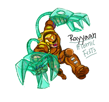 Rayyan with Atomic Fists by Khaleel100