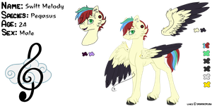 Swift Melody Reference Sheet by RazorSketches