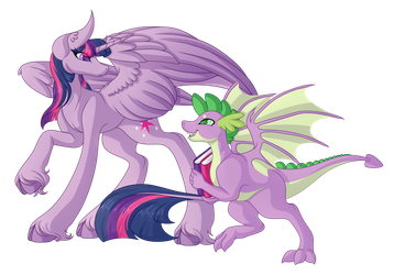 .:Patreon Reward:. Twilight and Spike by Amazing-ArtSong