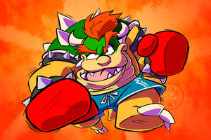 Boxer Bowser by TheBrokenMonkey