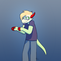 boi...? (speed paint thing) by TheSaladCram