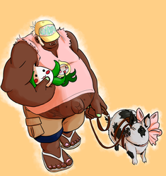 Roadhog Week Day Five: Pigs and Pachimaris by FoxLi