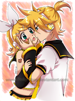 Rin x Len: I wanna kiss you by Rolly-Chan