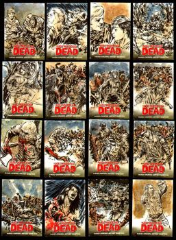 Walking Dead Comic series sketch cards by brokenluk