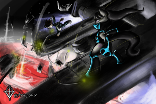 Epic Tavi Pip Fight IN SPACE by Tetrapony