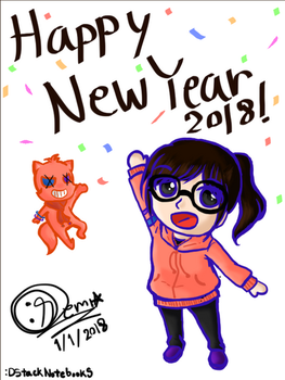Happy new year2018 by DStackNotebookS