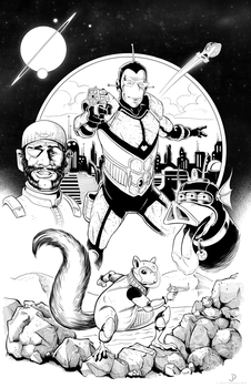 Spaceman and Bloater Poster INKS by JPipe
