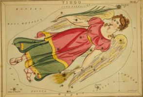 Vintage Astrology-Virgo by HauntingVisionsStock