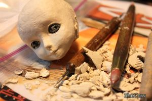 Doll Making - a head by SheCow