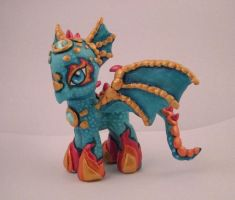 MLP Custom Spitfyre Dragon by colorscapesart