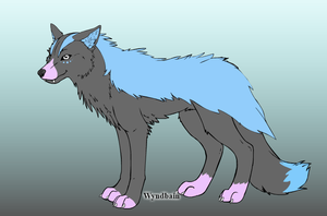 Wolf character made in Wolf Maker by Wyndbain by QuestionUnicorn