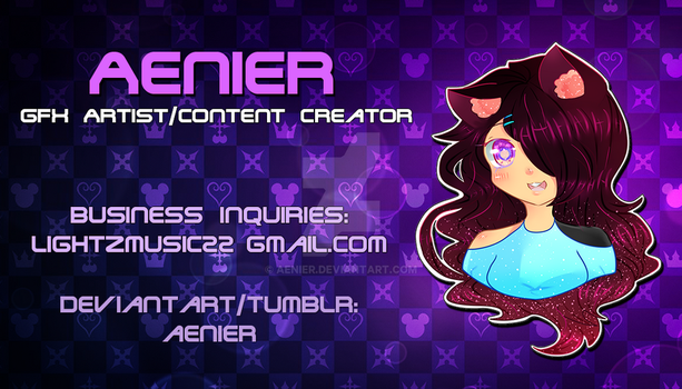 Aenier Official Business Card by Aenier