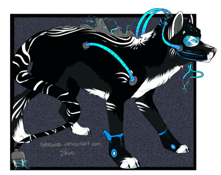 Tech Wolf ADOPTED!!   Name: 'Lektro by SyphorLightning