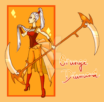 Orange Diamond for instagram contest by IlithyiaEidsvag