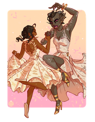 COMMISSION: Josephine and Adaar wedding by spacerocketbunny