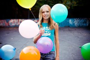 balloons and Ania by Lucem
