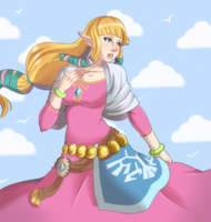 Zelda (commission sample 7) by Myabun