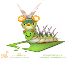 Daily Paint 1822# Cutterpillar by Cryptid-Creations