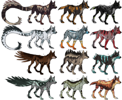 Canine Adoptables CLOSED by Pineaapple