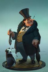 The Penguin (statue design) by lawvalamp