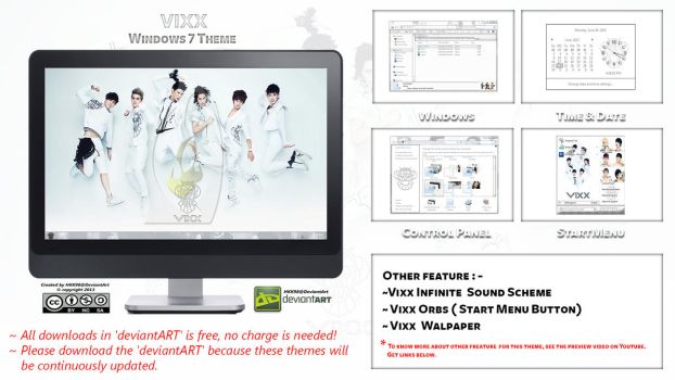[2013 Theme] Vixx Kpop for Windows 7 by HKK98