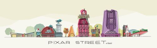 Pixar Street by Mr-Bluebird