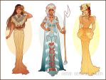 Art Nouveau Costume Designs IV by Hannah-Alexander