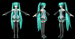 [MMD] New Miku like Project Diva Arcade (PDA) DL by martinnx