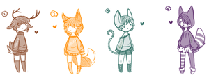 Adopts 2 (Name your price) Closed by AkiraInugamiWolf