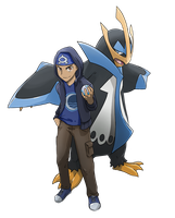 COMMISSION: Trainer with Empoleon