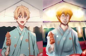 Summer Festival Nagisa scene redraw by Checker-Bee