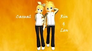 MMD Casual Rin and Len by Boyalex18