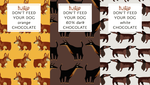 rustees: DON'T FEED YOUR DOG CHOCOLATE TOO by reimena
