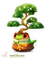 Daily Paint 1754# Bonsai Tree-Frog by Cryptid-Creations