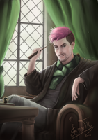 little pink in Slytherin by leometroid