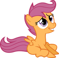 Sitting Scootaloo Vector by hombre0