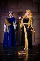 Hogwarts Ravenclaw and Hufflepuff by Matsu-Sotome
