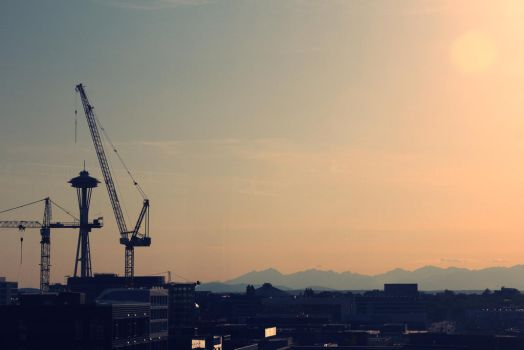 Seattle at Sunset by FrancesColt