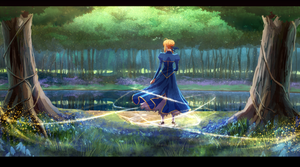 Saber From Fate StayNight by Fulbring