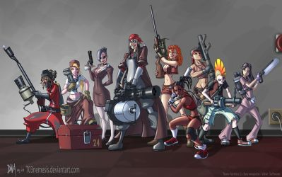 Team Fortress Fan Girls by T03nemesis