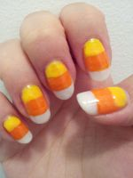 Candy Corn Nail Art by aniapaluch