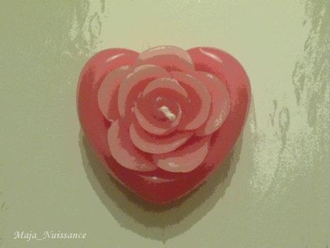 Candle heart by Maja-Nuissance